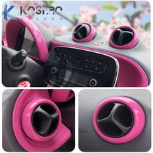 Car Air Conditioner Vent Slit Decorative Stickers Air outlet shell For new smart 453 fortwo forfour Car Modification Accessories