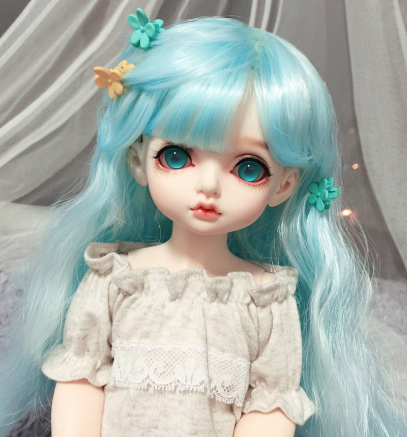 Black White Braid Cosplay Hair Wig For 1//3 1//4 1//6 BJD Doll Limit Sa