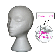 Styrofoam Foam Mannequin Female Head Model Wig Glasses Hat Display Stand In With Free 10pcs Tpins
