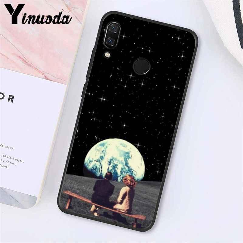 Yinuoda Grande Trippy Arte estetica Dello Spazio della Luna Cassa Del Telefono Della Ragazza per Xiaomi Redmi Nota 7 8T Redmi 5 più 6A Note8 4X Note8Pro