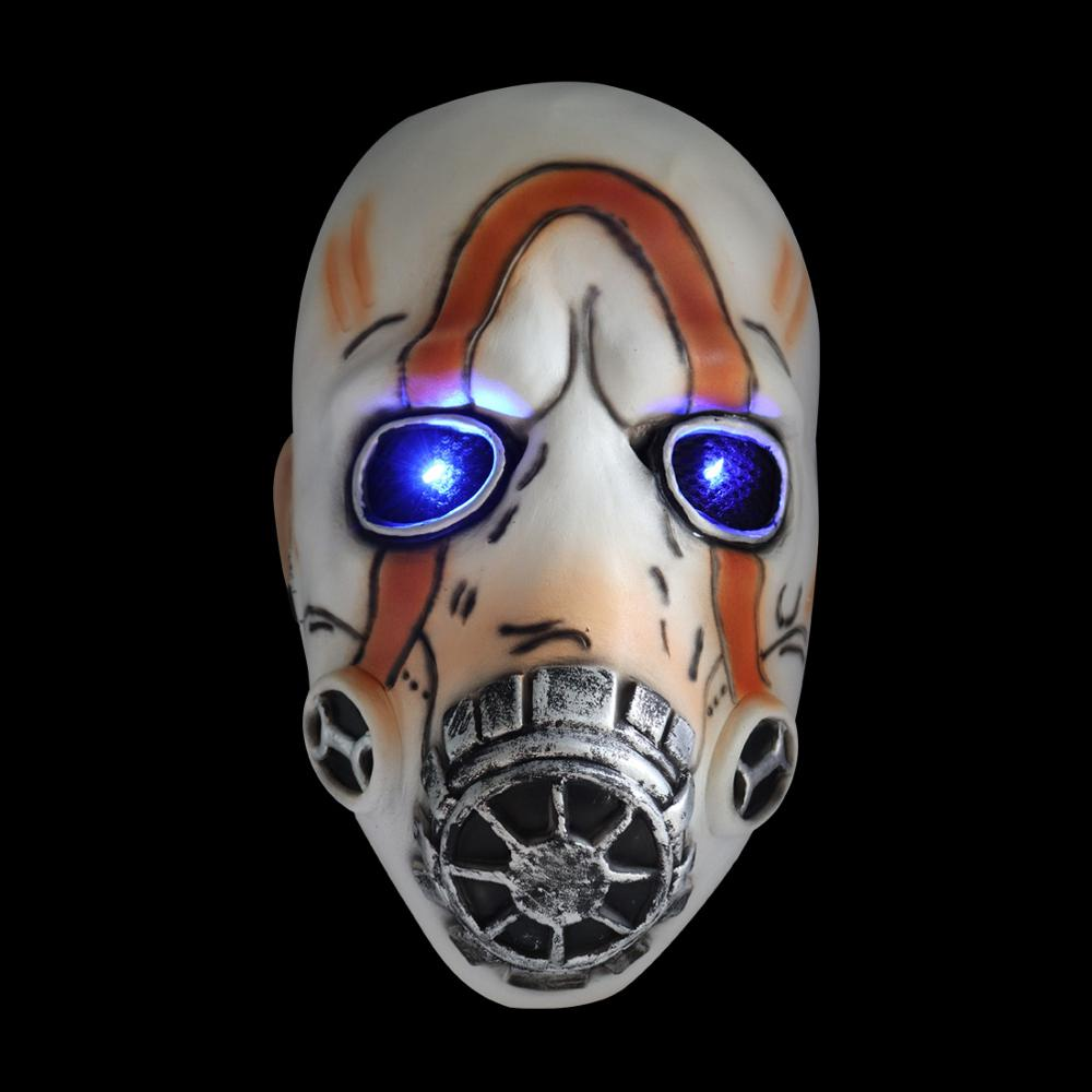 LED Game <font><b>Borderlands</b></font> 3 Psycho Cosplay mask Latex Halloween led Light Party Costume Props image