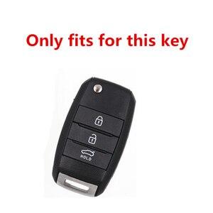 Image 5 - Protection de couverture de clé de voiture pliante en TPU pour KIA Sid Rio Soul Sportage Ceed Sorento CeratoK2 K3 K4 K5 étui à distance protéger porte clés