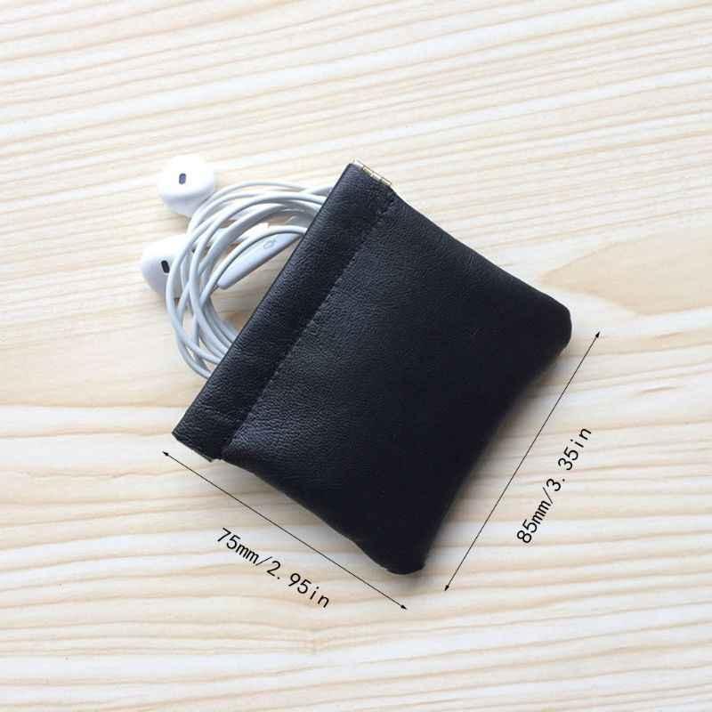 חדש עמיד הלם אמיתי עור אוזניות אחסון תיק נייד אוזניות פאוץ תיק נשיאה עבור Airpods אוזניות אביזרי qyh