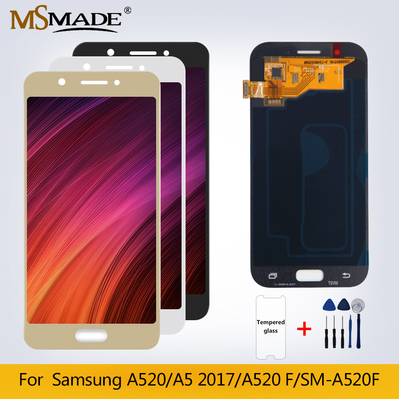 NEW A520 Original LCD For Samsung Galaxy A5 2017 A520F SM-A520F LCD Display Touch Screen Digitizer Replacement Parts+Gift