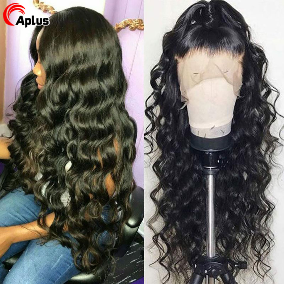 Loose Deep Wave Wig Human Hair 13x6 Transparent Lace Front Wig 28 Inches 360 Frontal Wigs With Baby Hair Natural Remy 150Density