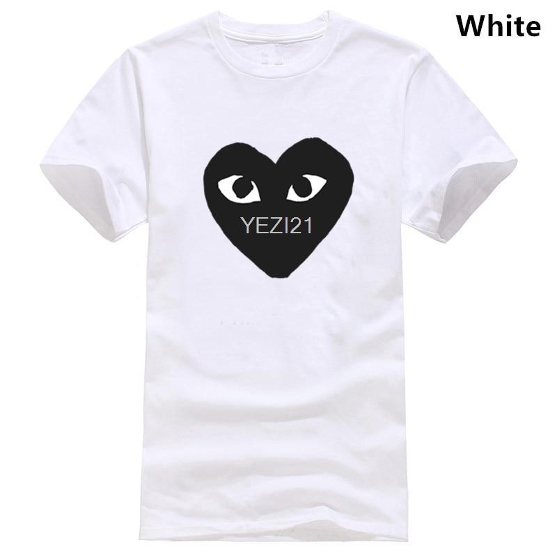 Comme  Des Garcon PLAY Men T Shirt Giant Black Heart Game Cotton Tee Shirt