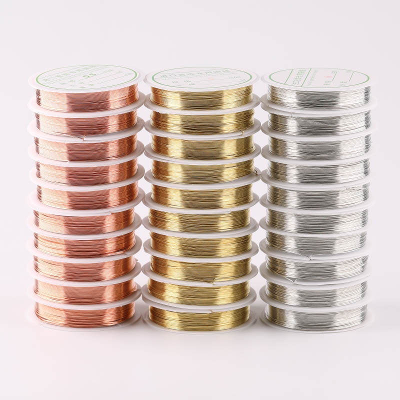 0.2 /0.3 / 0.4 / 0.5 / 0.6 / 0.8 / 1mm Silver Gold Alloy Wire Beaded Wire DIY Copper Wire Jewelry Wire Rope Accessories
