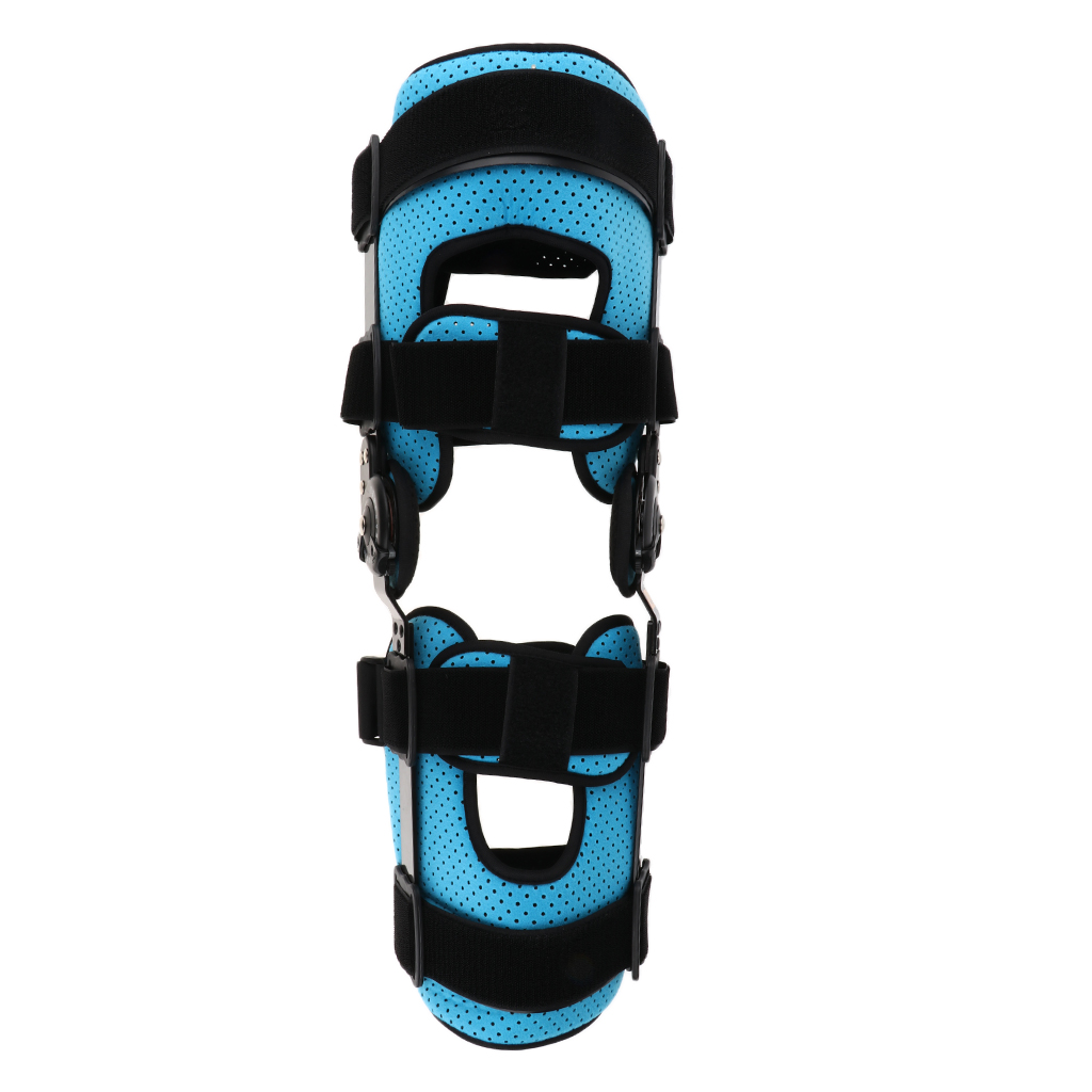 Breathable Full Leg Stabilizer Hinged Knee Support Orthosis Brace Guard Wrap Strap Fracture Fixed Splint for Sport Injuries