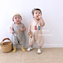 2021 Newborn Baby Summer Romper Jumpsuit Clothing Baby Girls Boys Cotton Sleeveless Overall Playsuit For Kids Infant Toddler