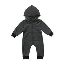 Baby Clothes Newborn Kids Baby Boy Baby Girl Warm Infant Zipper Cotton Long Sleeve Romper Jumpsuit Hooded Clothes Sweater Outfit