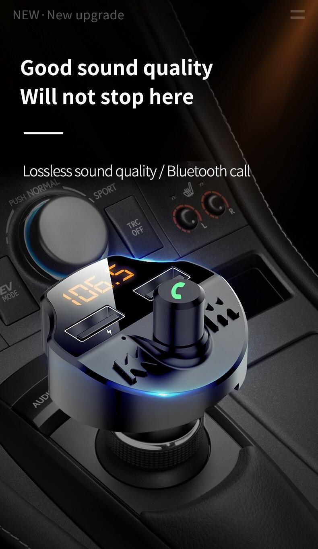 משדר fm מקצועי לרכב עם דיבורית
