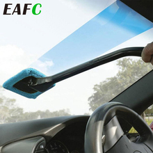 EAFC Car Window Cleaning Brush Long Handle Car Wash 40cm Dust Car Windshield Towel Handy Washable Car Cleaner cheap CN(Origin) 100 Microfiber Sponges Cloths Brushes 100g Window Auto Cleaner 13 5cm 9 5cm