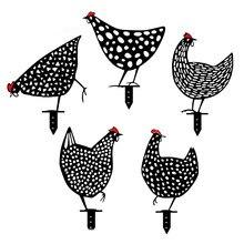 5/10 pçs ornamentos de jardinagem de metal arte jardim ao ar livre quintal decoração do gramado galinha quintal decoração presente decorações de páscoa