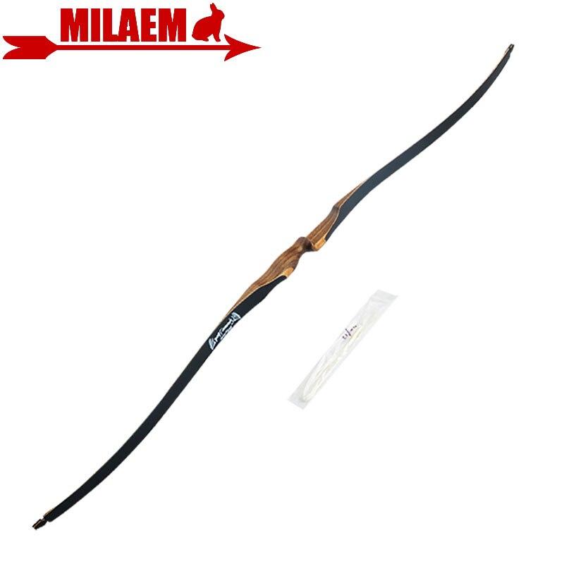 1pc 52 pouces 10-30lbs tir à l'arc Longbow classique arc classique main droite Sports de plein air chasse tir à l'arc et flèche accessoires