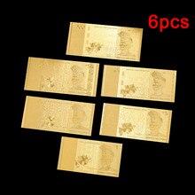 Lot de 6 billets de Collection en or malaisien, 1/5/10/20/50/100, vente en gros, cadeaux et Souvenirs