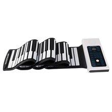 Портативный 88 клавиш USB рулон фортепиано электронное пианино силиконовая Гибкая клавиатура орган встроенный динамик с сустейн педалью