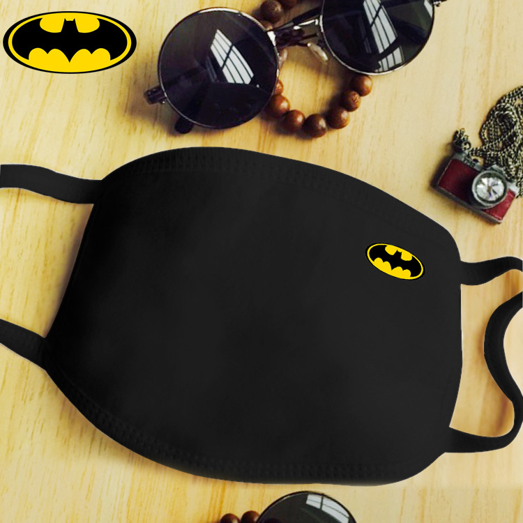 Hot Sale Black Cotton Batman Dustproof Mouth Face Mask Anime Cartoon Kpop Lucky Bear Women Men Sexy Party Mask Face Mouth Masks