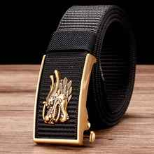 Men's Nylon Ratchet Belt, No Holes Full Adjustable Web Utility Belt for Men, Men