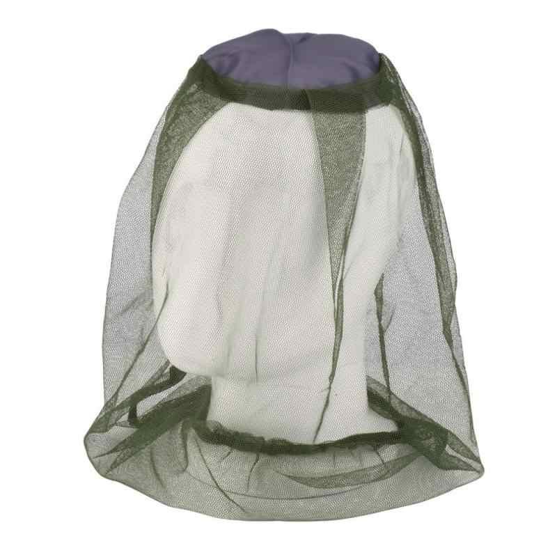 Camouflage Cappello Da Pescatore apicoltura Insetti Zanzara Netto Prevenzione protezione della Maglia del Berretto Berretto di Pesca All'aperto Parasole Copertura Della Testa Collo Lone # ND