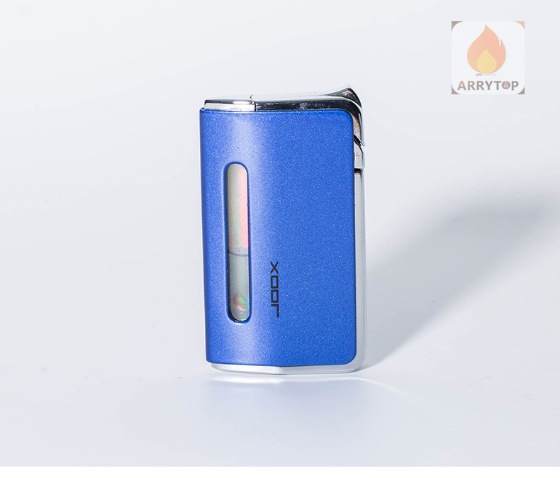 Ultra-thin Windproof Exquisite And Compact Ultra-thin Windproof Mini Long Metal Lighter Butane Gas Fuel GL019