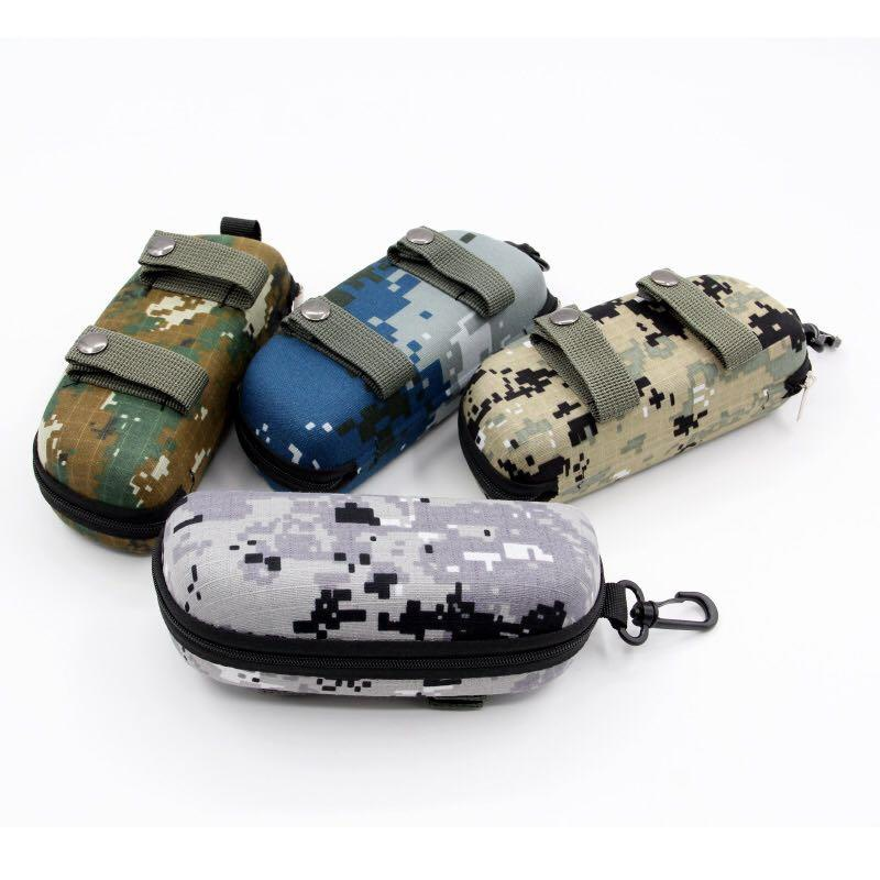 EVA Portable Sunglasses Box Storage Protector Camouflage Tactical Molle Sun Goggle Glasses Bag Case Outdoor EDC Accessory Bag Wi