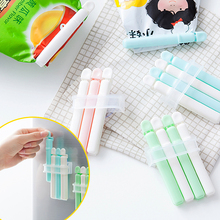 Portable Food Bag Clips Foods Preservation Closure Clamp Sack Seal Sealing Bag Clips Sealer Home Food Close Clip 4 pcs