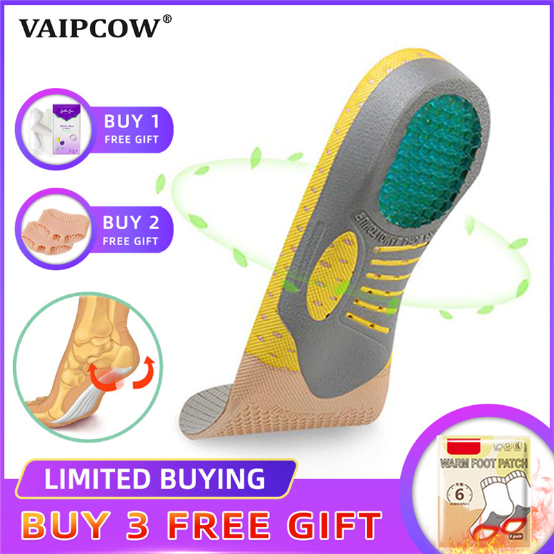 PVC Orthopedic Insoles Orthotics Flat Foot Health Sole Pad For Shoes Insert Arch Support Pad For Plantar Fasciitis Feet Care