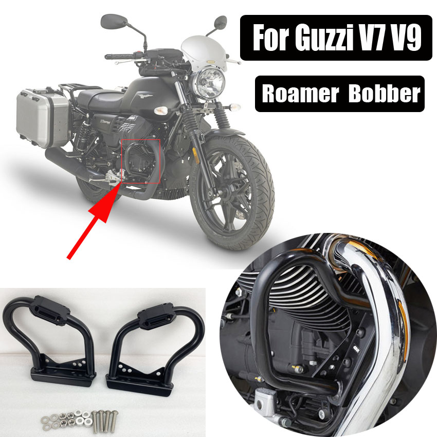 Engine Guard Buffer Frame Bumper Highway Crash Bar Protector For Guzzi V7 III Stone/Special 2017 V9 Roamer Bobber 2016-2020