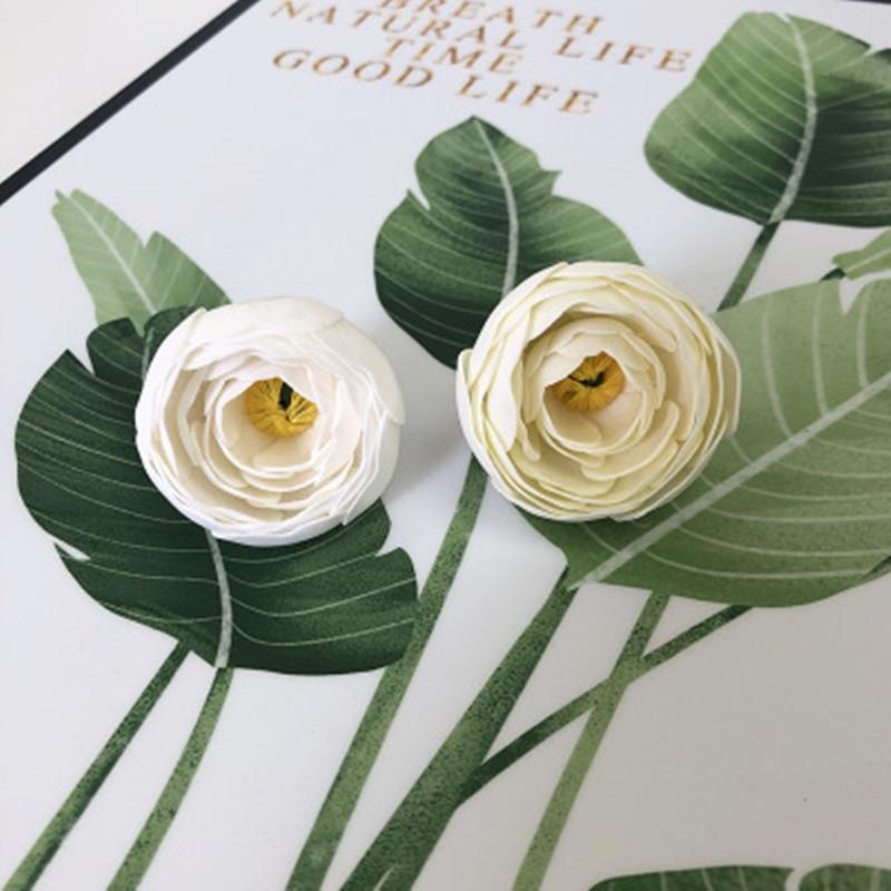 50PCS Fake Flower Peony Soap Flower Head Tea Rose Artificial Flower Soap Flower Head Bouquet Gift Box Decoration