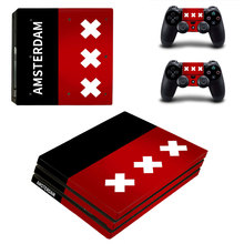 Amsterdan Style Skin Sticker for PS4 Pro Console And Controllers Decal Vinyl Skins Cover YSP4P-3393
