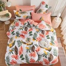 熱帯植物4個ガールボーイ子供のベッドカバーセット布団カバー大人の子供のベッドシーツと枕カバー布団寝具セット61075