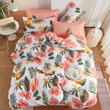 Tropical Plants 4pcs Girl Boy Kid Bed Cover Set Duvet Cover Adult Child Bed Sheets And Pillowcases Comforter Bedding Set 61075