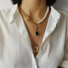 Initial Gold Choker Pearl Necklace Women Men Kolye Collier Femme Silver Chain Statement Necklaces Jewelry Bijoux Brincos 2019 ZA цена и фото