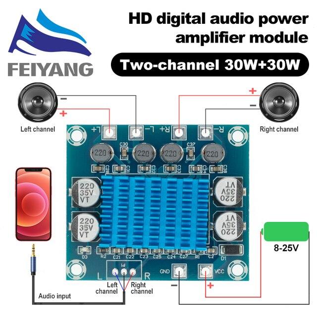 10 adet TPA3110 XH A232 30W + 30W 2.0 kanal dijital Stereo ses güç amplifikatörü kurulu DC 8 26V 3A