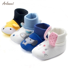 ARLONEET 0-18M Baby Toddler Shoes Cotton Baby Winter Comfortable Soft Sole Warm Shoes Newborn Baby Toddler First Walkers Shoes cheap Cotton Fabric Shallow All seasons Slip-On Print Unisex Fits true to size take your normal size new born shoes non slip socks toddler