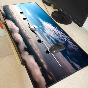 Mairuige Plane Flight Clouds Large Office Computer Desk Mat Table Keyboard Mouse Pad Laptop Cushion Lock Edge Mousepad