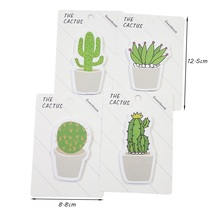1Pack/lot Kawaii THE CACTUS Cactus Notes Note Sticky Paper Stationery Office School Supplies For Writting various kawaii japanese scrapbooking stickers sticky notes school office supplies stationery page flags children s favourite