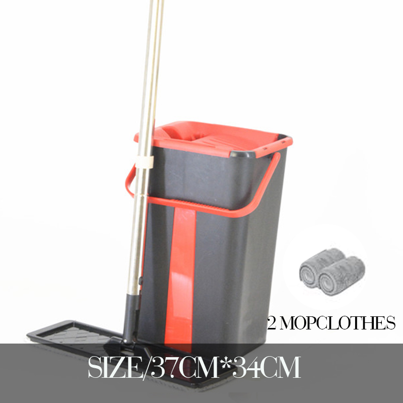 Self-Wringing Mop Free Hand Washing Flat Mop Ultrafine Fiber Cleaning Cloth Home Kitchen Wooden Floor Mop Cleaner