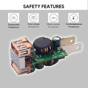 Image 2 - 12 فولت/24 فولت معدن مقاوم للماء المزدوج QC3.0 USB سريع شاحن سيارة مخرج طاقة الفولتميتر