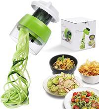 Ручной спиральный слайсер для овощей и фруктов, регулируемая спиральная терка, резак, инструменты для салата, лапша из цуккини, устройство д...