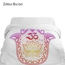3D пододеяльник King/queen/custom size, одеяло/покрывало 220/240, 1 пододеяльник, роскошное постельное белье colourfull Hamsa Hand