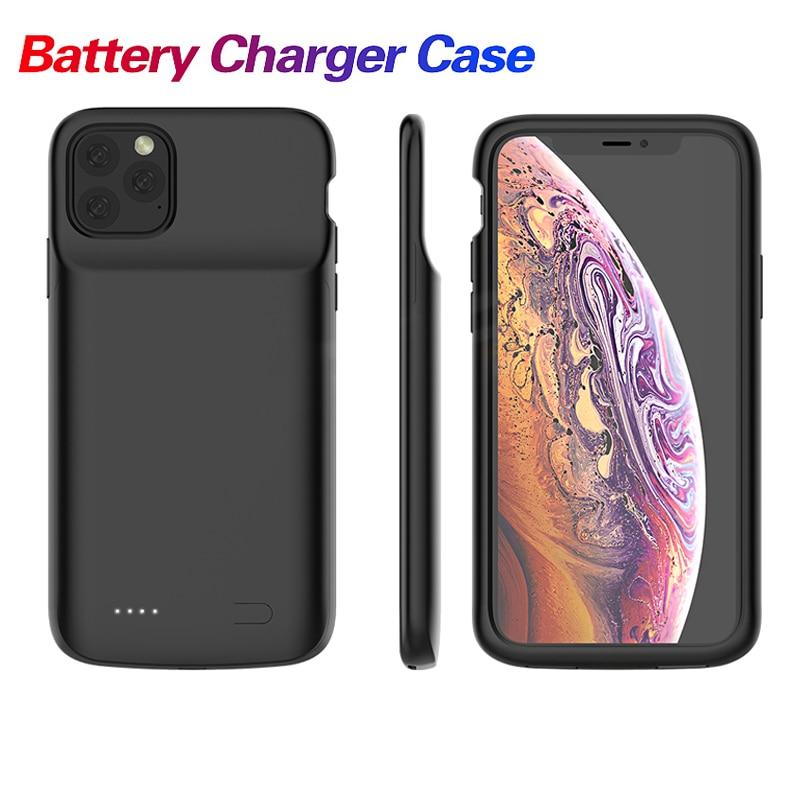Telefoon Batterij Oplader Voor Iphone X Xs Max 11 Pro 5000/5500Mah Batterij Opladen Case Cover Power bank Voor Iphone 6 7 8 Plus 1