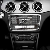 Center Konsole Klimaanlage CD Panel Abdeckung Trim Für Mercedes Benz X156 W176 C117 CLA GLA EINE B Klasse Carbon faser