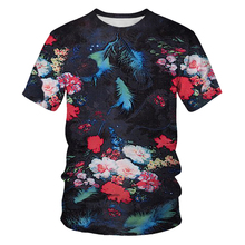 Summer Fashion Men's and Women's T-shirts 3D Flowers Printed Casual T-shirts Beautiful Clothes Asian Size S-6XLT Shirts