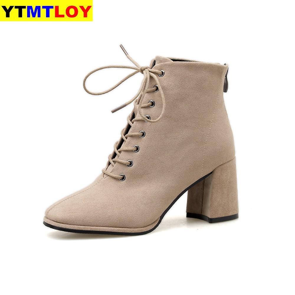 Super Deal 2b138e Women S Short Boots Europe And America 2020 Autumn And Winter New Fashion Thick Heels Women S Shoes Sexy Size 35 39 Cicig Co