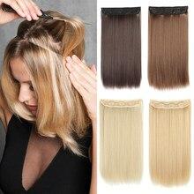 Длинные прямые синтетические накладные волосы с эффектом омбре 16