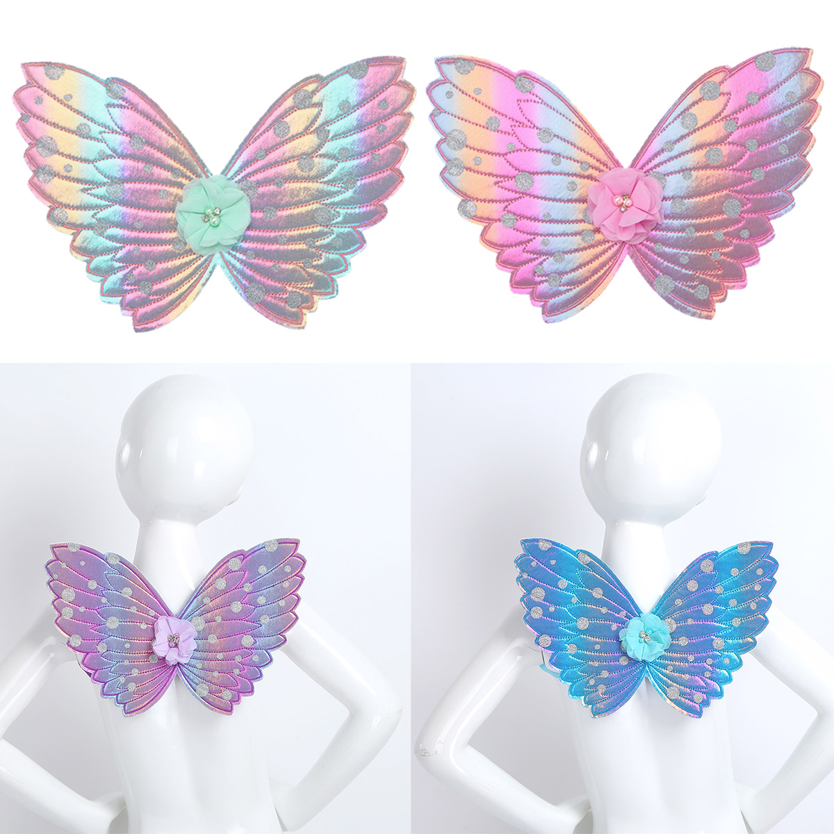 Pink Princess Costume Butterfly Fairy Fancy Dress Wings Toddler Girls Child Kids
