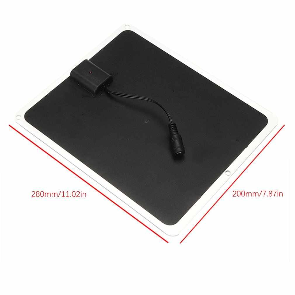 20W 12V Mono GÜNEŞ PANELI USB pil şarj edici güç bankası cep telefonu için kamp şarj cihazı Ultra ince yüksek verimli