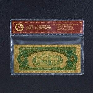 WR поддельные деньги США 100 долларов Золотая фольга Банкнота с Coa рамкой Америка 2 USD красочные банкноты реквизит деньги креативный подарок