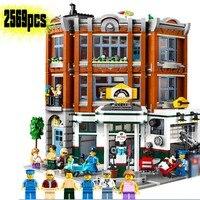 DG006 New ideas series the Corner Garage Model Building Blocks Compatible legoinglys city 10264 Classic Architecture Toys Gifts